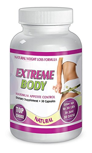 Extreme Body 30 capsules NATURAL WEIGHT LOSS FORMULA Dietary supplement for 30 days by CherryBargains