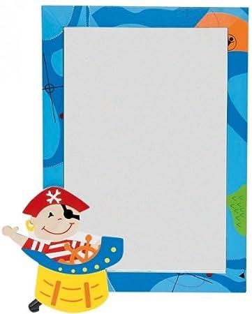 kinderspiegel spiegel holz pirat blau bunt kinder judith herzberg