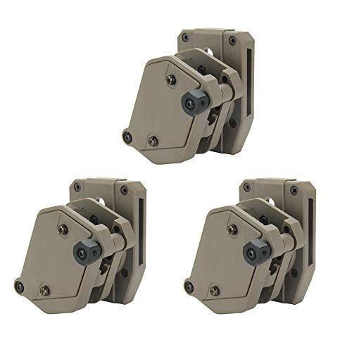 KRYDEX IPSC USPSA IDPA Competition Shooting Multi-Angle Adjustment Speed Shooter's Pistol Magazine Pouch Mag Holster Holder (DE 3 Pcs)