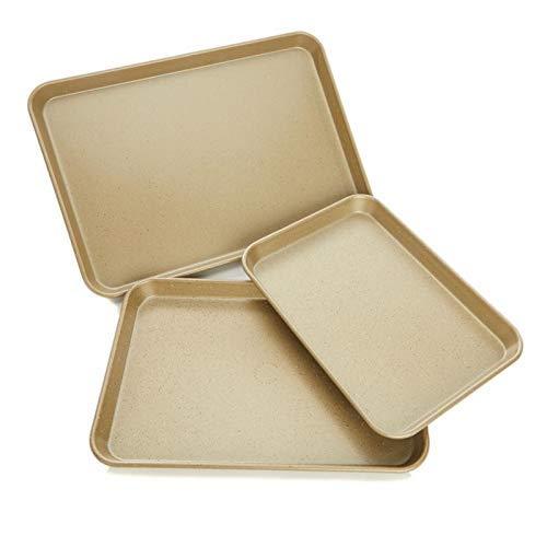 Curtis Stone Dura-Bake Nonstick 3-Piece Sheet Pan Baking Set - Gold