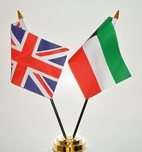 Kuwait y Reino Unido amistad banderín Celloexpress 25 cm
