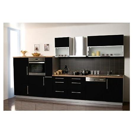 Mebasa MCZK610BS cocina, zona de cocina 370 cm negro brillante, de ...