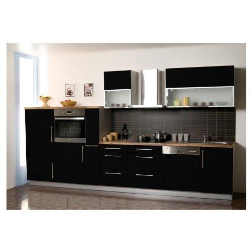 Mebasa MCZK610BS cocina, zona de cocina 370 cm negro ...