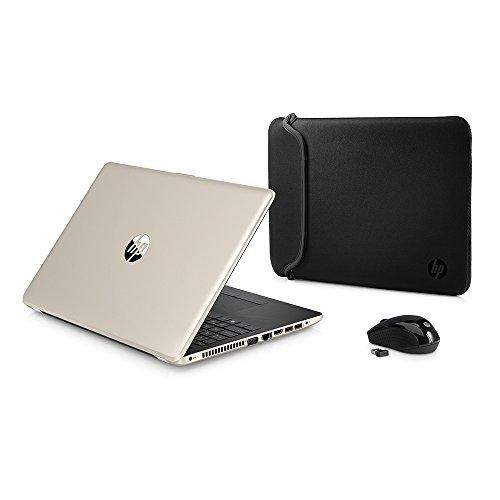 2018 Newest Premium HP High Performance Laptop PC 15.6-inch HD+ Display AMD E2-9000e Processor 4GB DDR4 RAM 500GB HDD WIFI DVD-RW HDMI Bluetooth Webcam Sleeve&Mouse Windows 10 (Gold)