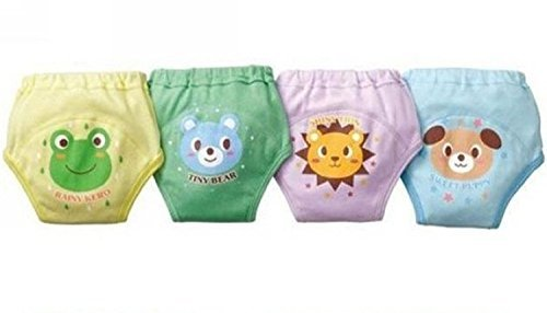 LOSORN ZPY Pack of 4 Baby Toddler Boy's Cute 4 Layers Potty Training Pants Reusable A-1