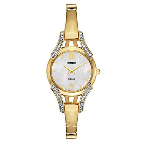 Seiko Women's SUP216 Swarovski Crystal-Accented Stainless Steel Bangle Watch by Seiko Watches