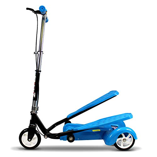 (Ped-Run3 Kids Scooter for Boys and Girls with Advanced Dual Pedal Action, Bike Scooter Hybrid (Blue))