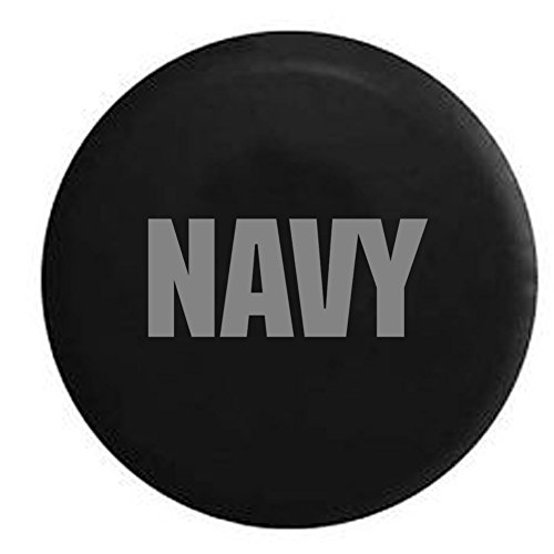 - Stealth - US NAVY Spare Tire Cover Vinyl Black 33 in