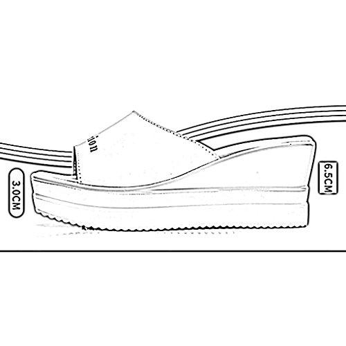 femeninas Ta Pendiente y al zapatillas libre Fondo de Verano Zapatillas Antideslizante playa con moda deporte de Color Cómodo transpirable Zapatillas PENGFEI B grueso Chanclas B de para aire mujer qawHpx