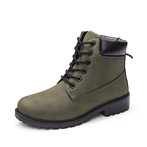 Vert Bottines Dames Chaussures Sonnena Casual Femmes Martin Bottes Faux 7xHcwp8O