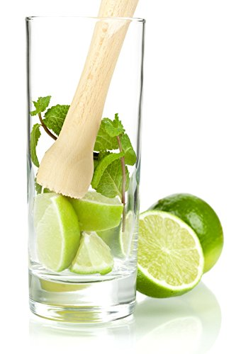 HIC Harold Import Co. 21000 Mojito Muddler, FSC-Certified - Muddler Wooden