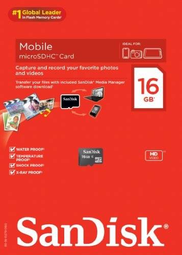 SanDisk Mobile microSDHC Card without Adapter