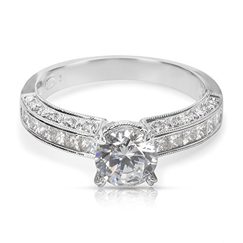 BRAND NEW La Reina Diamond Engagement Ring in 18k White Gold (0.69 CTW) by La Reina