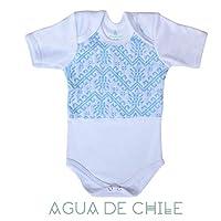 Body niño, 3 a 6 meses, color azul pastel con bordado hecho a mano, ropa para bebe reborn