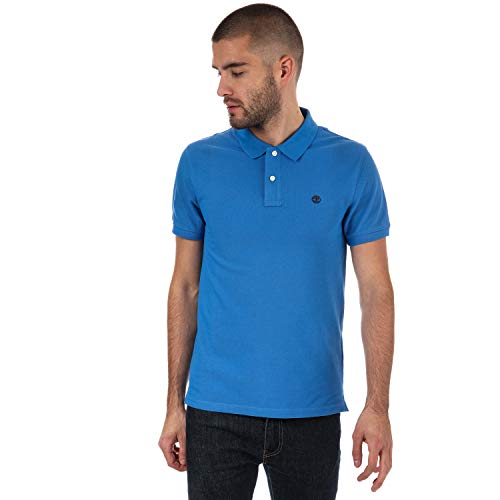 Timberland Men's Millers River Polo Shirt S Blue