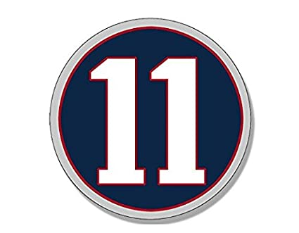 0330815da28 Image Unavailable. Image not available for. Color  Round  11 Julian Edelman  Sticker (new england patriots ...