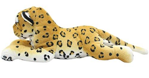 TAGLN Realistic Stuffed Animals Toys Cheetah Lifelike Plush Groveling Brown Leopard 17.7 (Plush Cheetah)