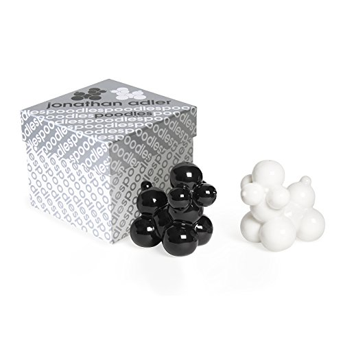 Jonathan Adler Poodles Salt & Pepper Shakers, Black and - Salt Adler