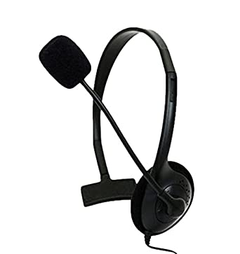 ed1b27ae216 Amazon.com: KMD Live Chat Headset with Mic Headset for Microsoft Xbox 360,  Black Small: Video Games