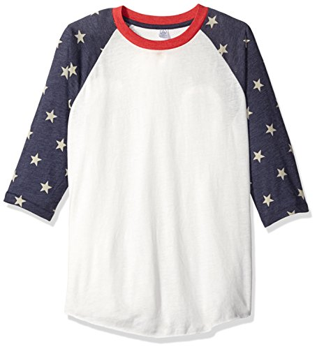 Alternative Mens Printed Baseball T-Shirt Large Stars