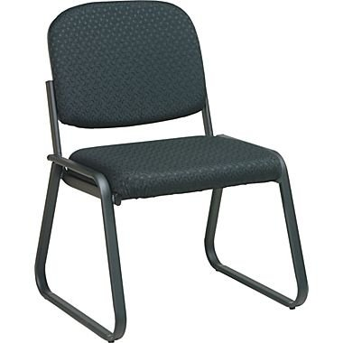 Deluxe Sled Base Armless Chair with Designer Plastic Shell Black Pattern/Armless - Osp Deluxe Guest Chair