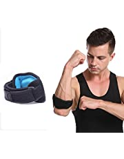 Tennis Elbow Brace with Compression Pad for Women & Men Golfers Elbow Brace for Tendonitis Weightlifting Pain relief (Single,Blue)