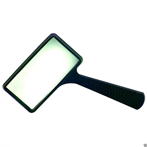 (NEW LARGE 4x RECTANGLE MAGNIFYING GLASS 4