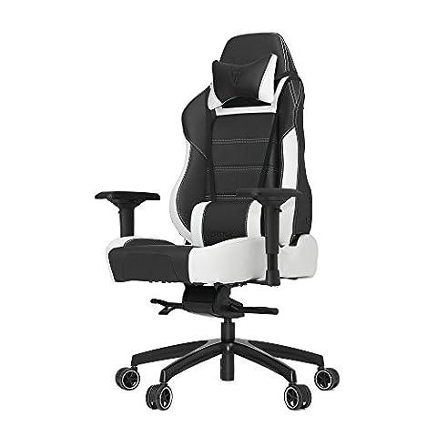 Vertagear P-Line PL6000 Racing Series Gaming Chair - Black/White (Rev. 2) Nov/2016 - Adjustable Height Power Pedestal