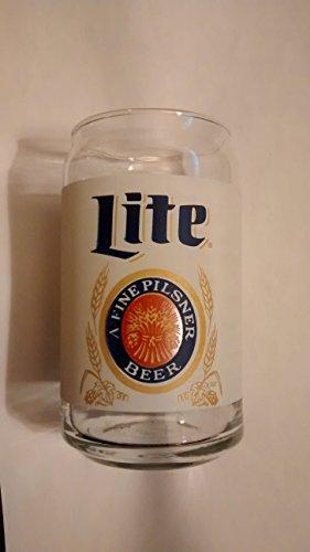 - Miller Lite Can Shaped Beer Glass Set of 2