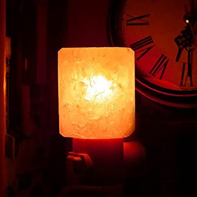 SMAGREHO Mini Hand Carved Natural Crystal Himalayan Salt Lamp night light