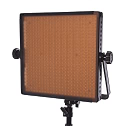 StudioPRO Double S-600D Ultra High Power 600 LED Continuous Lighting Panel & Light Stand, Carrying Case & Barndoor Kit - Full Spectrum (Photography, Video & Film Production Studio Essentials)