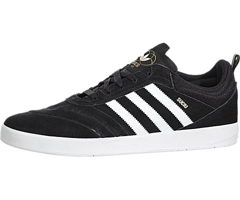 adidas SUCIU ADV Black/White/Gold Metallic Skate Shoes-Men 11.5, Women 13