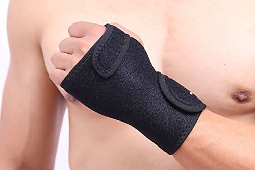 Carpal Tunnel Syndrome Wrist Brace by MONALE – Tendonitis – Arthritis – With Removable Splint and Adjustable Support Wrap – Black – (Left (Removable Splint)