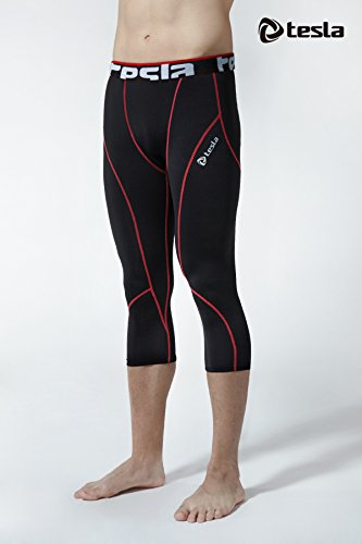 Large Product Image of Tesla Men's Compression 3/4 Capri Shorts Baselayer Cool Dry Sports Tights MUC18 / MUC78 / MUC08 / P15