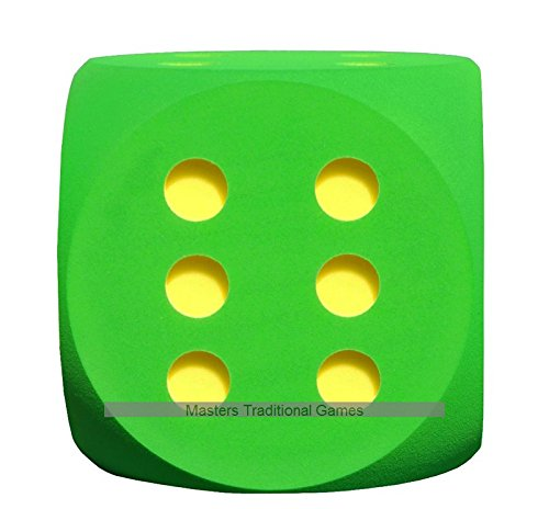Giant Foam Dice - 50cm - GREEN by Masters Traditional Games