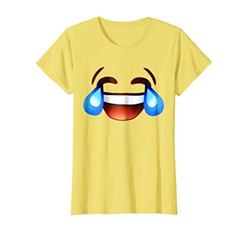Womens Laugh Hard Till You Cry T-Shirt Medium Lemon ()