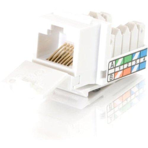 "C2g 90&Deg; Cat5e Rj45 Utp Keystone Jack - White - Rj-45, 110-Punchdown ""Product Category: Hardware Connectivity/Connectors"""