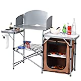 GYMAX Aluminum Folding Camping Table with