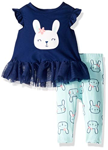 Gerber Baby Girls Tunic and Legging Set, Rabbit, 6-9 Months