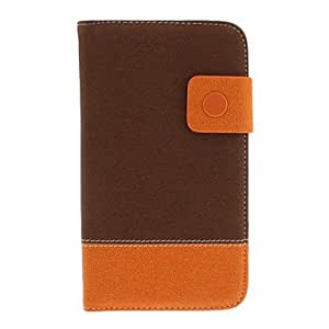 Litchi Print Pattern PU Leather and Hard Back Cover Pouch for Samsung Galaxy Note2 N7100 --- COLOR:Blue