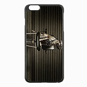 iPhone 6 Plus Black Hardshell Case 5.5inch - dog metalist chair glasses Desin Images Protector Back Cover