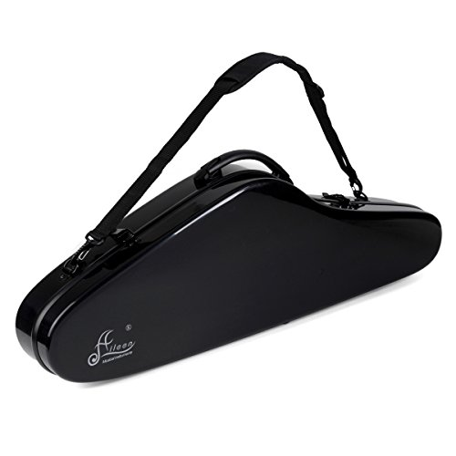 Violin Hard Case Aileen 4/4 Full Size Luxury Fiberglass with Hygrometer Suspension, 4 Colors,