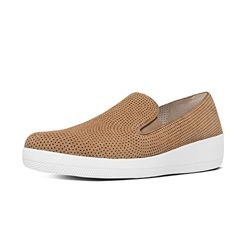 Fitflop Donna Superskate Perf Scamosciata Mocassino Soft Brown