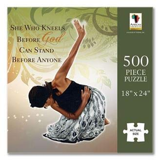 "Search : African American Expressions - She Who Kneels Puzzle (500 Pieces, 18"" x 24"") PUZ- 12"