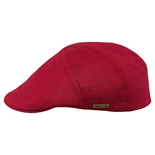 - Sterkowski Light Breathable Linen Summer Vintage Flat Cap US 6 7/8 Red