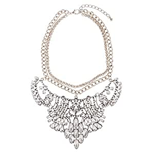 Just Showoff Women's Alloy Crystal Chain Like Tiara Necklace