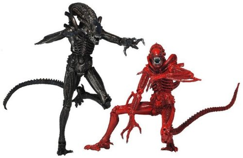 "NECA Aliens ""Genocide"" Black Warrior vs. Red Warrior Action Figure (2-Pack), 7"""