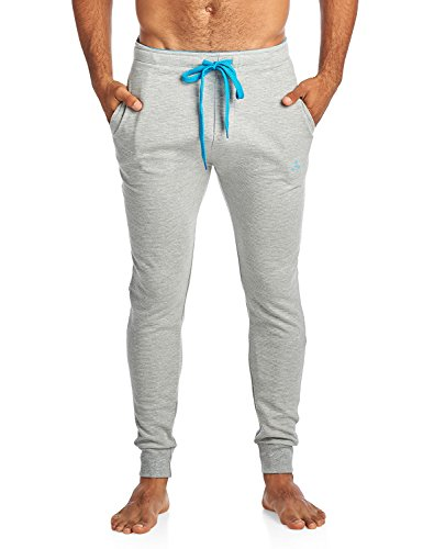 Balanced Tech Men's Jersey Knit Jogger Lounge Pants - Ottoman Ribbed LH Grey - XX-Large ()