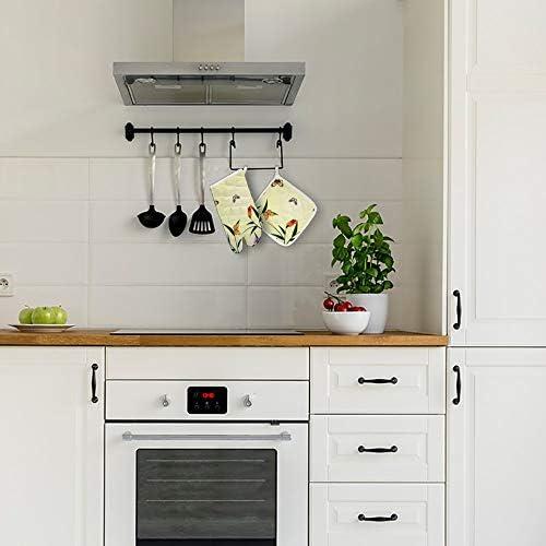 Dataqe 840334 - Guantes para horno de microondas, guantes de cocina, resistentes al calor, combinación: Amazon.es: Hogar