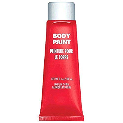 Amscan 3900764 Non Toxic Cream Based Full Body Paint, 34 Oz, Red